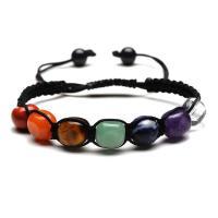 Edelstein Armbänder, flache Runde, unisex, farbenfroh, 7x9mm, Länge:7 ZollInch, verkauft von PC
