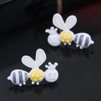 Zinklegierung Ohrstecker, Edelstahl Stecker, Biene, plattiert, für Frau, keine, 20*15mm, verkauft von Paar