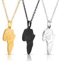 Edelstahl Schmuck Halskette, plattiert, unisex, keine, Thickness 1.9mmuff0cWidth 29mmuff0cHeight 37mm, verkauft per ca. 19.6 ZollInch Strang