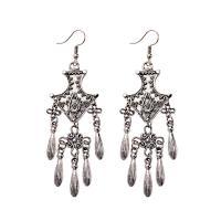Zinklegierung Ohrringe, verschiedene Stile für Wahl & für Frau, Silberfarbe, frei von Nickel, Blei & Kadmium, 93mm,98mm,75mm,90m, verkauft von Paar