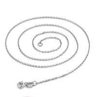 Messing Kette Halskette, silberfarben plattiert, Oval-Kette & für Frau, frei von Nickel, Blei & Kadmium, verkauft per ca. 16 ZollInch Strang
