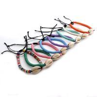Harz Armbänder, mit Polyester & Muschel, für Frau, keine, verkauft per ca. 7.3 ZollInch Strang