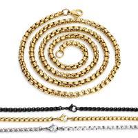 Halskette, Edelstahl, unisex & verschiedene Größen vorhanden & Kastenkette, keine, verkauft von PC