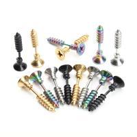 Edelstahl Ohrpiercing Schmuck, Schraube, für den Menschen, keine, 25mmx7mm, 6PC/Tasche, verkauft von Tasche