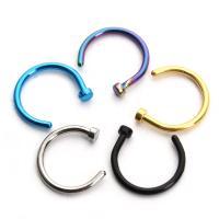 Edelstahl Nasepiercing Schmuck, hypoallergenic & unisex, keine, 10PC/Tasche, verkauft von Tasche