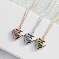 Messing Medaillon-Halskette, Herz, für Frau, keine, frei von Nickel, Blei & Kadmium, 19x20mm, Länge:ca. 15.7 ZollInch, verkauft von Paar