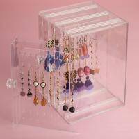 Acryl Ohrringständer, mit Polystyrol, Spritzgießen, verschiedenen Materialien für die Wahl & transparent, 140x180x130mm, verkauft von PC