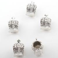 Zinklegierung Zwischenperlen, Krone, antik silberfarben plattiert, frei von Nickel, Blei & Kadmium, 9*14mm, Bohrung:ca. 6mm, 2Taschen/Menge, ca. 192PCs/Tasche, verkauft von Menge