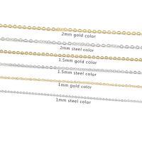 Halskette, Edelstahl, plattiert, unisex & verschiedene Größen vorhanden, keine, 40cm, 10PCs/Strang, verkauft per ca. 15.7 ZollInch Strang