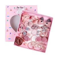 Stoff Haar-Schmuck-Set, Haarspange & Haarschmuck elastischen, für Kinder & verschiedene Stile für Wahl, 175x130x30mm, verkauft von Box