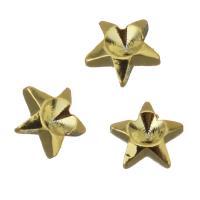 Messing Cabochon Einstellungen, Stern, Goldfarbe, frei von Nickel, Blei & Kadmium, 4x4x1mm, ca. 500PCs/Menge, verkauft von Menge