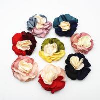 Stoff Haarspange Brosche Würdigung, Blume, plattiert, DIY, keine, 50mm, 50/Menge, verkauft von Menge