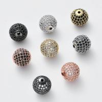 Strass Messing Perlen, DIY & mit Strass, keine, frei von Nickel, Blei & Kadmium, 12x12mm, Bohrung:ca. 1.8mm, ca. 4PCs/Menge, verkauft von Menge