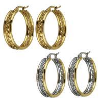 Edelstahl-Hebel zurück-Ohrring, Edelstahl, plattiert, für Frau, keine, 7x31mm, verkauft von Paar