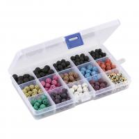Naturstein Perle, mit Kunststoff Kasten, plattiert, 6mm,8mm,10mm, 2BoxFeld/Menge, verkauft von Menge