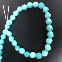 Amazonit Perlen, poliert, DIY & facettierte, blau, 8mm, ca. 47/Strang, verkauft per ca. 15 ZollInch Strang