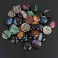 Spitze Achat Anhänger, Streifen Achat, mit Naturstein & Natürlicher Quarz, gemischt, 29-30x8-9mm, 10PCs/Menge, verkauft von Menge