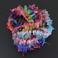 Natürlicher Quarz Perlen Schmuck, keine, 4-10x19-33x4-10mm, Bohrung:ca. 1mm, 66PCs/Strang, verkauft per ca. 15.5 ZollInch Strang