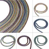 Nicht-magnetische Hämatit Perlen, Non- magnetische Hämatit, plattiert, DIY, keine, 4*3mm, Bohrung:ca. 1mm, 121PC/Strang, verkauft von Strang