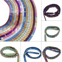 Nicht-magnetische Hämatit Perlen, Non- magnetische Hämatit, plattiert, DIY, keine, 7x8x3mm, Bohrung:ca. 0.5mm, 66PC/Strang, verkauft von Strang