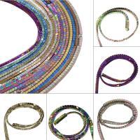 Nicht-magnetische Hämatit Perlen, Non- magnetische Hämatit, plattiert, DIY, keine, 7x5x3mm, Bohrung:ca. 1mm, 122PC/Strang, verkauft von Strang