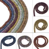 Nicht-magnetische Hämatit Perlen, Non- magnetische Hämatit, plattiert, DIY, keine, 6*3mm, Bohrung:ca. 2.5mm, ca. 186PCs/Strang, verkauft von Strang