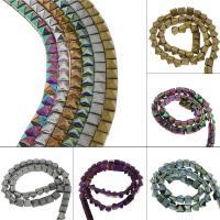 Nicht-magnetische Hämatit Perlen, Non- magnetische Hämatit, plattiert, verschiedene Größen vorhanden, keine, Bohrung:ca. 1mm, verkauft von Strang