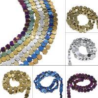 Nicht-magnetische Hämatit Perlen, Non- magnetische Hämatit, plattiert, DIY, keine, 10*5mm, Bohrung:ca. 1mm, ca. 54PCs/Strang, verkauft von Strang