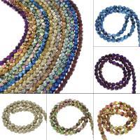 Nicht-magnetische Hämatit Perlen, Non- magnetische Hämatit, plattiert, DIY, keine, 7*5mm, Bohrung:ca. 1mm, ca. 66PCs/Strang, verkauft von Strang