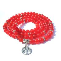 Wrap Armband , Roter Achat, plattiert, unisex, frei von Nickel, Blei & Kadmium, 850-920mm, verkauft von Strang