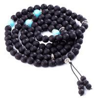 Wrap Armband , Lava, mit Amazonit, plattiert, unisex, schwarz, 900mm, verkauft von Strang