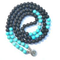 Wrap Armband , Lava, mit Türkis, plattiert, unisex, schwarz, 860mm, verkauft von Strang