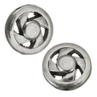 Zinklegierung hohle Perlen, Silberfarbe, frei von Nickel, Blei & Kadmium, 12x3.50mm, Bohrung:ca. 1.5mm, 50PCs/Menge, verkauft von Menge