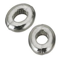 Zink Legierung Perlen Schmuck, Zinklegierung, Silberfarbe, frei von Nickel, Blei & Kadmium, 7x8.50x3mm, Bohrung:ca. 3x4mm, 50PCs/Menge, verkauft von Menge