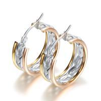 Edelstahl-Hebel zurück-Ohrring, 316 L Edelstahl, plattiert, für Frau, 25mm, 8.2mm, 2.1mm, verkauft von Paar