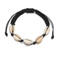 Muschel Woven Ball Armband, mit Nylonschnur, plattiert, einstellbar & für Frau, keine, verkauft per 7.5 ZollInch Strang