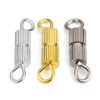 Messing Schraubschließe, plattiert, DIY, keine, frei von Nickel, Blei & Kadmium, 14x3mm, 50PCs/Tasche, verkauft von Tasche