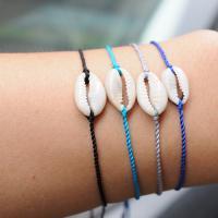 Muschel Schmuck Armband, mit Baumwolle Schnur, Schale, Bohemian-Stil & für Frau, keine, 2PC/Menge, verkauft von Menge