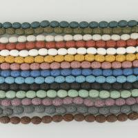 Natürliche Lava Perlen, keine, 8x12mm, Bohrung:ca. 2mm, ca. 33PCs/Strang, 5SträngeStrang/Menge, verkauft per ca. 15.5 ZollInch Strang