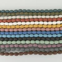Natürliche Lava Perlen, keine, 10x15mm, Bohrung:ca. 2.5mm, ca. 26PCs/Strang, 5SträngeStrang/Menge, verkauft per 16 ZollInch Strang