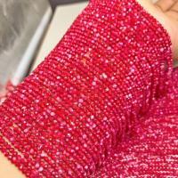 Natürliche Korallen Perlen, Koralle, rund, poliert, DIY & verschiedene Größen vorhanden & facettierte, rot, verkauft per ca. 15 ZollInch Strang