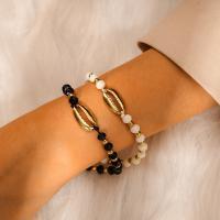 Zinklegierung Woven Ball Armbänder, mit Seedbead, plattiert, einstellbar & für Frau, frei von Nickel, Blei & Kadmium, Länge:7.5 ZollInch, verkauft von setzen
