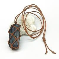 Schörl Halskette, mit Nylon, unisex, schwarz, 25~30mm, verkauft von Strang