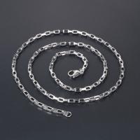 Titanstahl Halskette Gliederkette, Quadrat, unisex & verschiedene Größen vorhanden, verkauft von PC