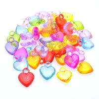 Acryl Anhänger, Herz, Spritzgießen, keine, 13.5x17mm, Bohrung:ca. 1mm, ca. 1760PCs/kg, verkauft von kg