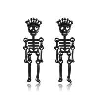 Edelstahl Tropfen Ohrring, Skelett, plattiert, hypoallergenic & unisex, keine, 10x31mm, verkauft von Paar