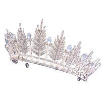 Krone, Zinklegierung, mit Kristall & Kunststoff Perlen, plattiert, für Braut & mit Strass, keine, frei von Nickel, Blei & Kadmium, 140x80mm, verkauft von PC