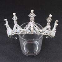 Krone, Zinklegierung, mit Kristall & Kunststoff Perlen, plattiert, Hochzeitsgeschenk & für Frau, keine, frei von Nickel, Blei & Kadmium, 300x110x60mm, verkauft von PC