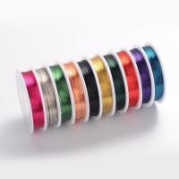 Messing Draht, verschiedene Größen vorhanden, gemischte Farben, frei von Nickel, Blei & Kadmium, 10PCs/setzen, verkauft von setzen