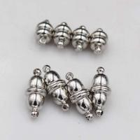 Zinklegierung Magnetverschluss, Platinfarbe platiniert, verschiedene Stile für Wahl, keine, frei von Nickel, Blei & Kadmium, 8x5mm, 20PCs/Tasche, verkauft von Tasche